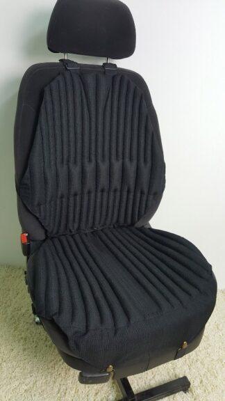 Ортопедическая накидка-подушка на автокресло. Комфорт+. Черная. Сторона -зима.