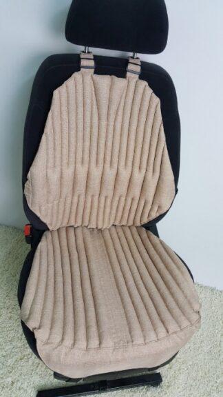 Ортопедическая накидка-подушка на автокресло. Комфорт+. бежевая. Сторона -лето.