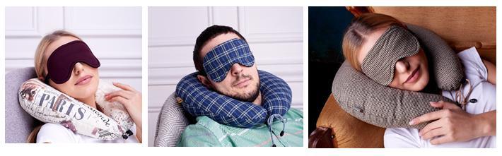 подушка под голову и спальная маска