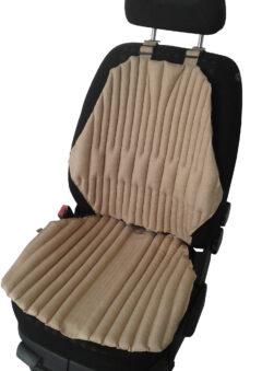 Ортопедическая био подушка-накидка EKKOSEAT на кресла легковых и грузовых автомобилей. Бежевая.