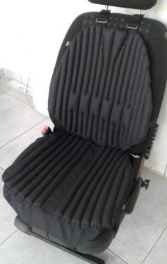 Ортопедическая био подушка-чехол на автокресло. Универсальная. Черная.