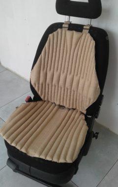 Ортопедическая био подушка-накидка на автокресло. Универсальная. Бежевая.