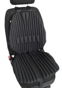 Ортопедическая био подушка-накидка EKKOSEAT на кресла легковых и грузовых автомобилей. Черная.