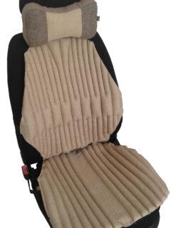 КОМПЛЕКТ. Ортопедические био подушки EKKOSEAT на кресла легковых и грузовых автомобилей и подушка на подголовник. Бежевый. AV-123G-302.