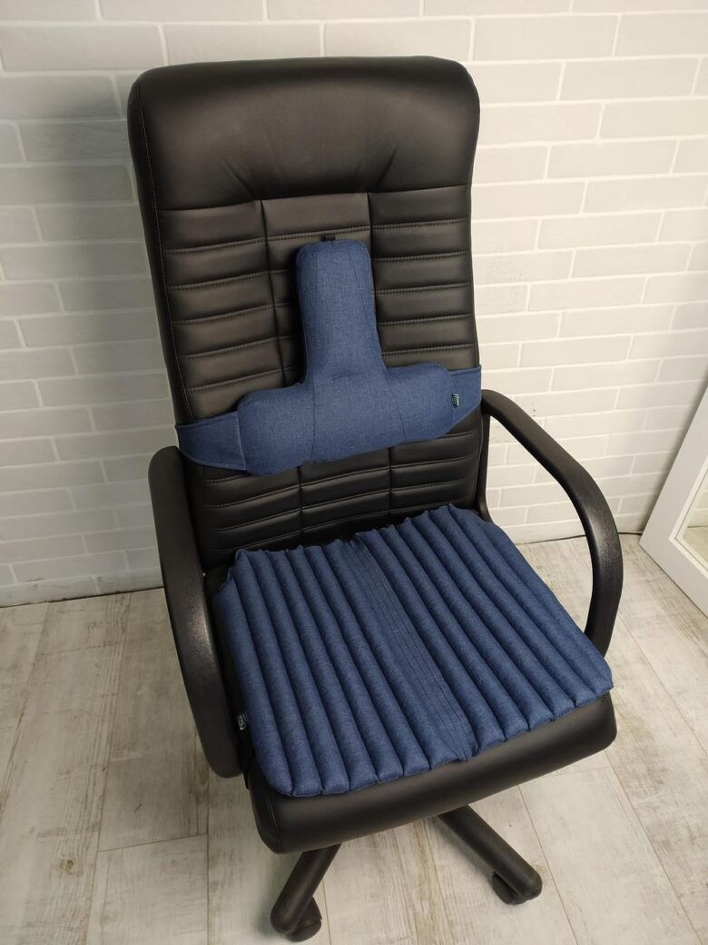 Ортопедические подушки EKKOSEAT на кресло руководителя (СИДЕНИЕ и СПИНКА). Комплект